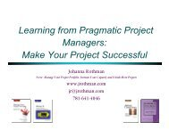 Learning from Pragmatic Project Managers: Make Your ... - PNSQC