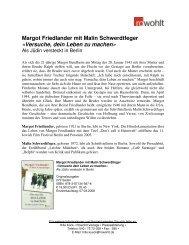 Margot Friedlander mit Malin Schwerdtfeger «Versuche, dein ... - Fuxx