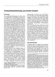 Konsumentenstimmung und privater Konsum - Wifo