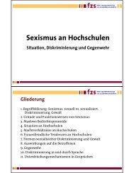 Präsentation Sexismus an Hochschulen - Kein Seximus an ...