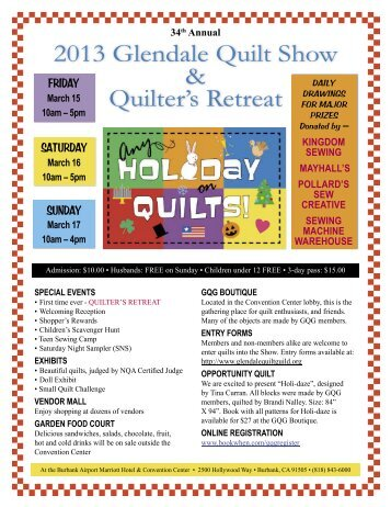 2013 Glendale Quilt Show & Quilter's Retreat - Glendale Quilting Guild