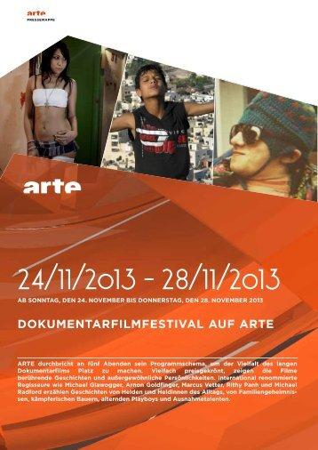 Dokumentarfilmfestival auf arte - Arte Presse