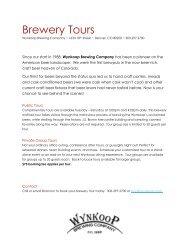 Brewery Tours - Wynkoop Brewing Company
