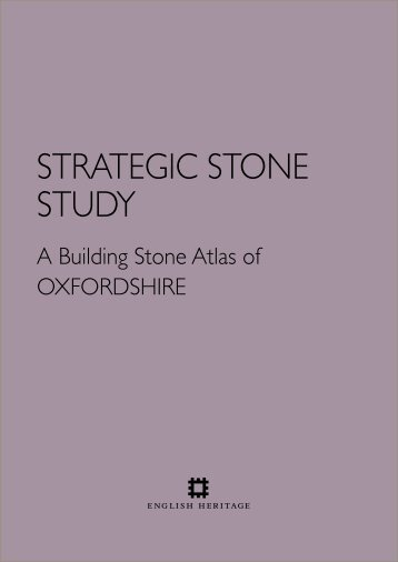 You can download here our Oxfordshire Building Stones Atlas