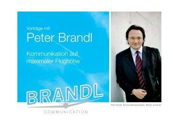 Peter Brandl - PODIUM Die Redneragentur