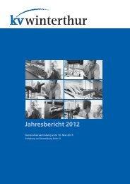 KVW Jahresbericht 2012 - KV Winterthur
