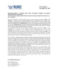 Press Release November 22, 2013 - GlobeNewswire