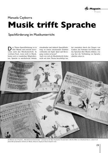 Musik trifft Sprache (Manuela Czyborra) Sprachförderung im ...