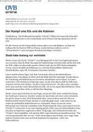 Der Kampf ums Eis und die Kabinen - Print - Popup - OVB ... - CSU
