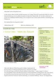 SEF/INEF News Mai 2013