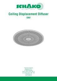 Ceiling Displacement Diffuser - Schako
