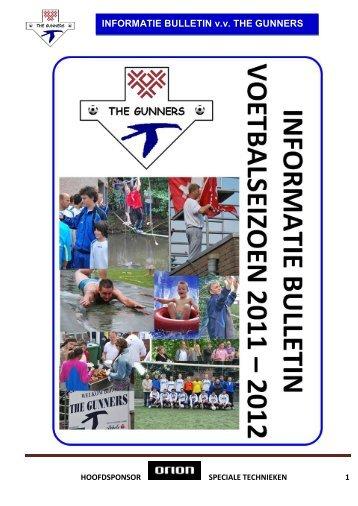 Informatie bulletin 2011-2012 - Gunners.nl