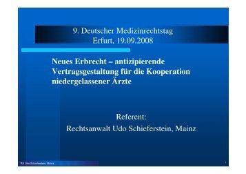 Neues Erbrecht - Medizinrechts-Beratungsnetz