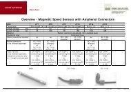 Overview - Magnetic Speed Sensors with Amphenol ... - Huegli Tech
