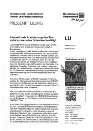 Mehr Infos - im Biosphärenreservat Schaalsee