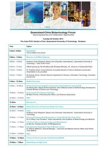 Queensland-China Biotechnology Forum