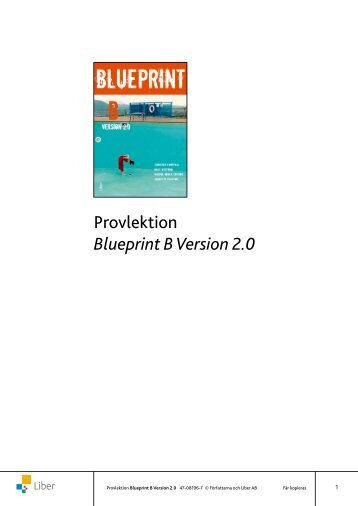 Provlektion Blueprint B Version 2.0 - Liber
