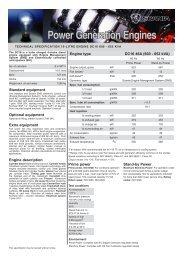 Power Generation Engines - Scania