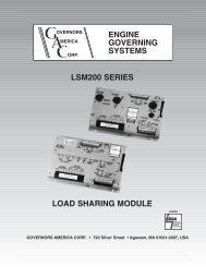 engine governing systems lsm200 series  load sharing ... - Huegli Tech