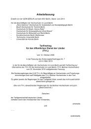 TV-L Berliner Hochschulen Arbeitsfassung 2013 - servicecenter-khs ...