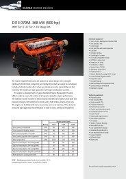 DI13 070M. 368 kW (500 hp)