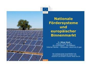 """""""Nationale Fördersysteme und europäischer Binnenmarkt"""", Dr ..."""