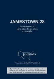 Verkaufsprospekt mit Nachtrag Nr. 1 und 2 - Jamestown