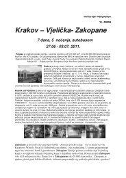 Krakov - Udruženje Srpsko-Poljskog prijateljstva - YU Polonia