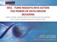 ws1 -‐ turn insights into action the power of data-‐driven ... - Aasonn