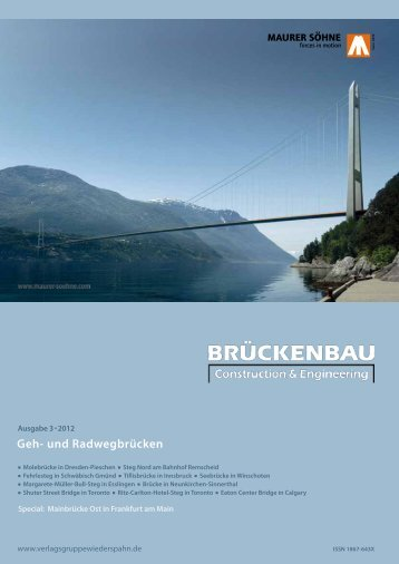 Geh- und Radwegbrücken - zeitschrift-brueckenbau Construction ...