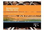 Banebranchen May 9th 2012 - Den Danske Banekonference