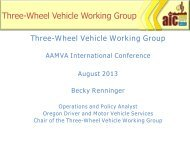 Three-Wheel Vehicle Working Group