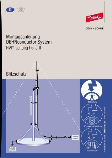 Blitzschutz Montageanleitung DEHNconductor System