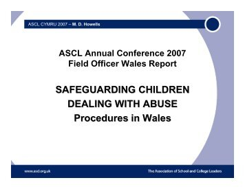 Mike Howells, ASCL Field Officer - presentation 1