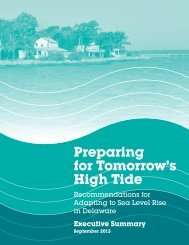 Preparing for Tomorrow's High Tide - Delaware Department of ...