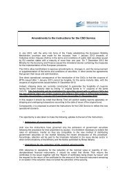 Amendments to the Instructions for the CSD Service - Monte Titoli