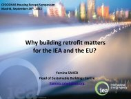 Why building retrofit matters for the IEA and the EU? - Federcasa