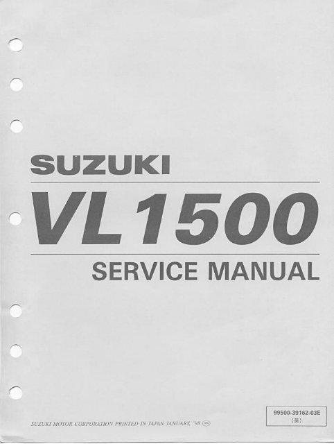 Suzuki intruder service manual manual de taller.