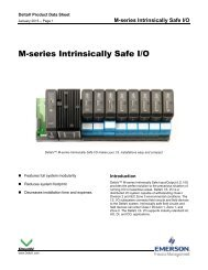 M-series Intrinsically Safe I/O - Emerson Process Management