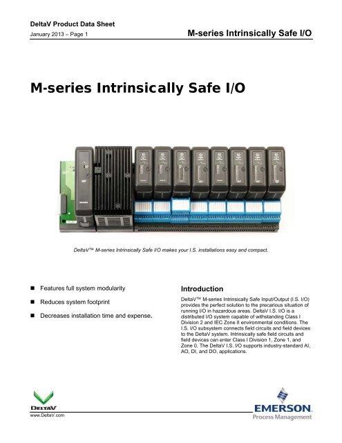 M-series Intrinsically Safe I/O - Emerson Process Management
