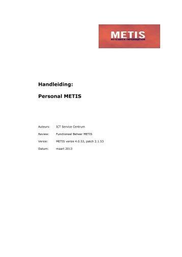 Handleiding: Personal METIS - Universiteit Utrecht