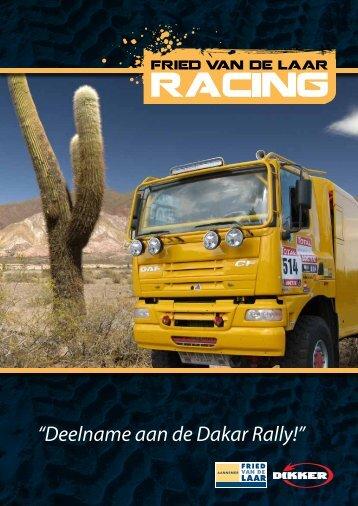 """""""Deelname aan de Dakar Rally!"""" - Fried van de Laar Racing"""