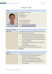 Profil - Home @ m development + consulting