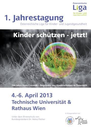 1. Jahrestagung - Österreichische LIGA für Kinder-und ...