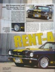 Bericht über Hertz Ford Mustang im Chrome und - Redline Motors