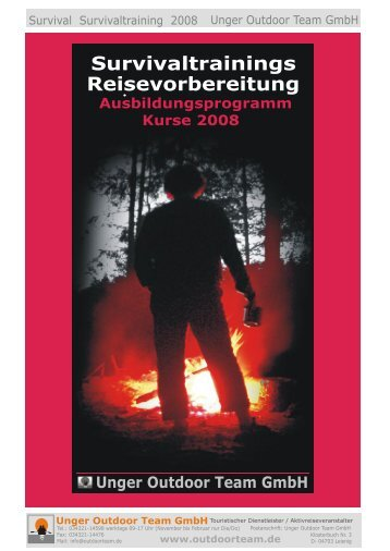 Survivaltrainings Reisevorbereitung