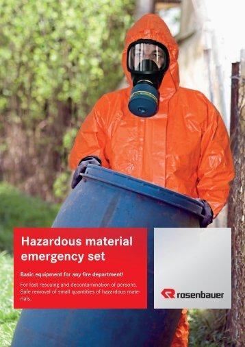 Hazardous material emergency set - Rosenbauer