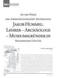 Jakob Hummel: Lehrer – Archäologe – Museumsgründer in - Irs