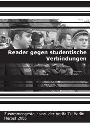 Reader gegen studentische Verbindungen der ... - Falsch verbunden