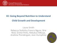Going Beyond Nutrition to Understand Child Growth and Development